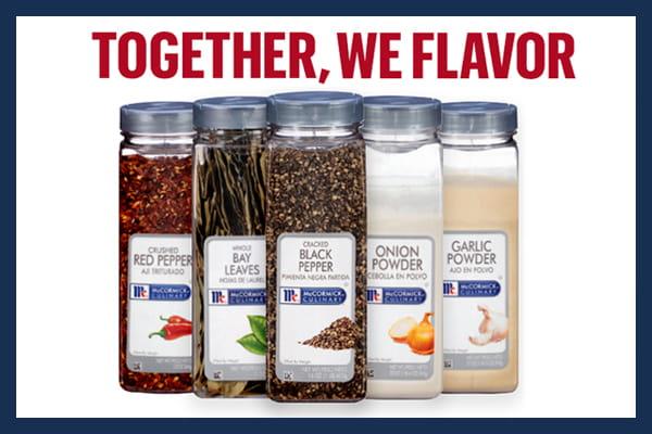 Together we flavor campaign headline