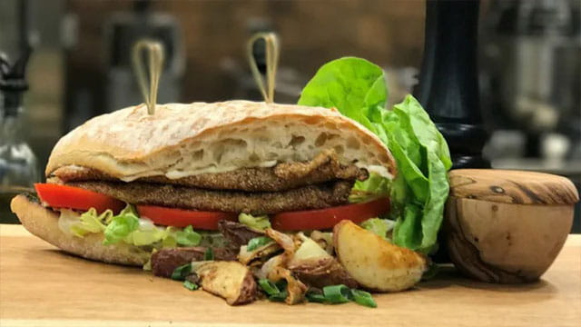Old Bay and Cornmeal Crusted Tilapia Sandwich