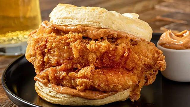 Sweet & Bold BBQ Buttermilk Fried Chicken Biscuit featuring Cattlemen's® Sweet & Bold BBQ Sauce