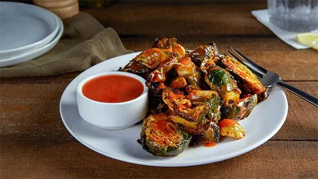 Smoky Honey Buffalo Brussels Sprout Wings