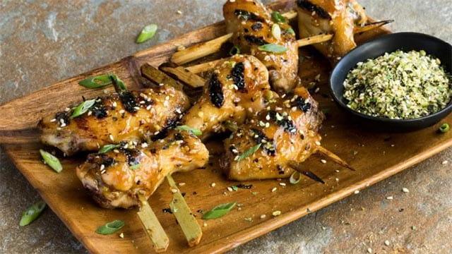 Spicy Japanese Izakaya Style Grilled Wings