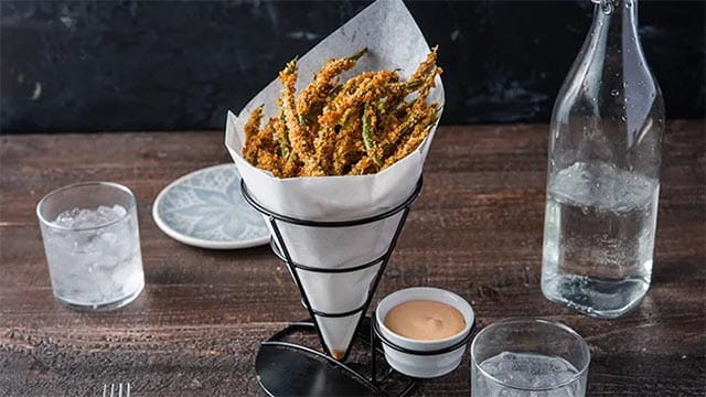 Green Bean Fries With Old Bay® Hot Sauce Aioli