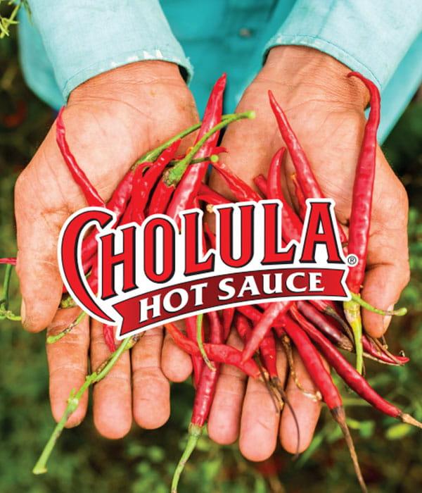Cholula Header with chili