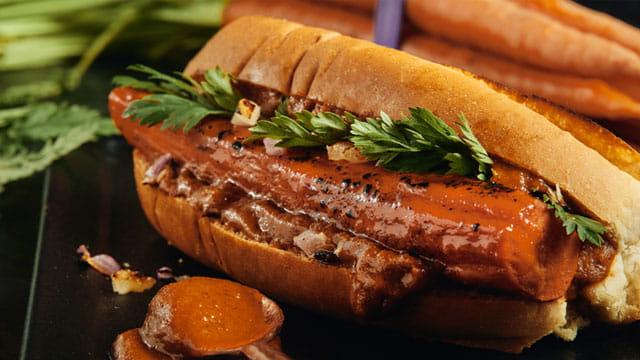 Brined Carrot Hot Dog