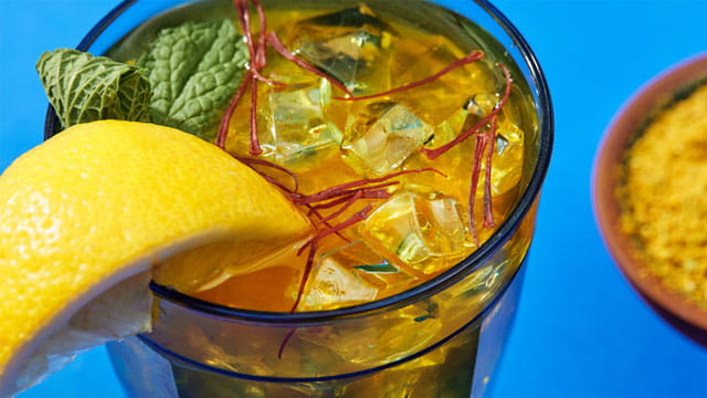 Cooling Saffron Honey Tea