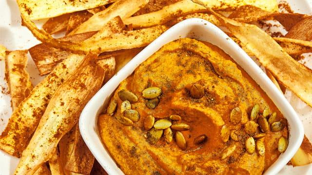 Warming Spiced Parsnip Crisps