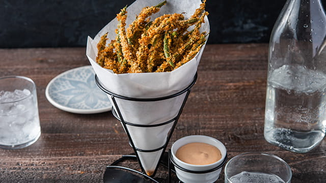 Crispy Green Bean Fries with OLD BAY® Hot Sauce Aioli