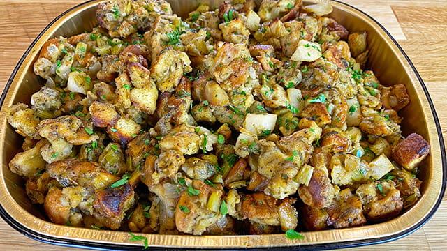 Apple Sage Thanksgiving Stuffing