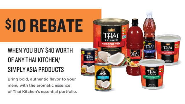 Thai Kitchen $10 Rebate