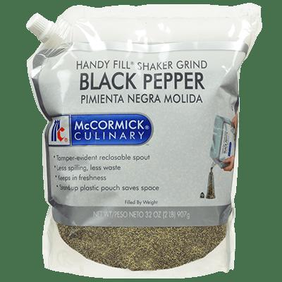 McCormick Culinary Black Pepper Shaker Grind Handy Fill