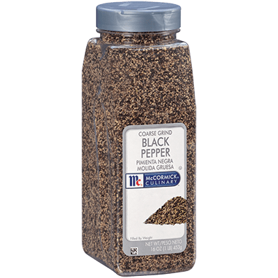 McCormick® Culinary® Black Pepper, Coarse Grind