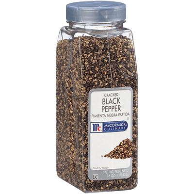 McCormick® Culinary® Black Pepper, Cracked