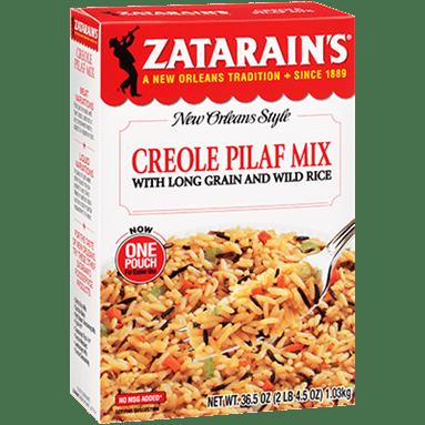 Zatarains Creole Pilaf Mix with Long Grain Wild Rice