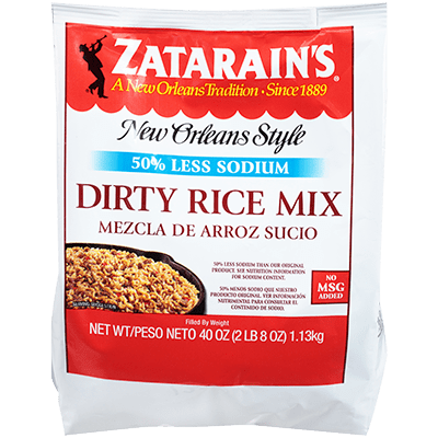 Zatarains Dirty Rice Mix Reduced Sodium