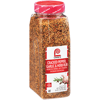 Lawry's®Cracked Pepper, Garlic & Herb Rub