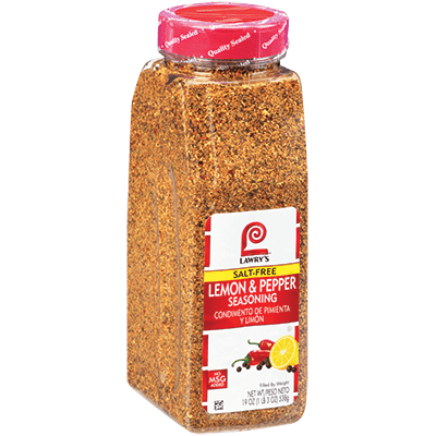Lawry's®Lemon & Pepper Seasoning, Salt Free