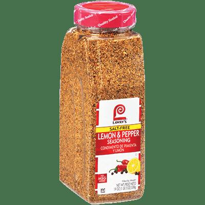 Lawry's®Lemon & Pepper Seasoning, Salt Free