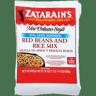 Zatarains Red Beans Rice Mix Reduced Sodium