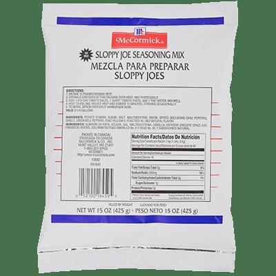 McCormick® Culinary® Sloppy Joe Seasoning Mix