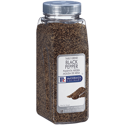 McCormick® Culinary® Black Pepper, Table Grind