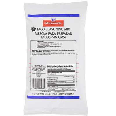 McCormick® Culinary® Taco Seasoning Mix Pouch 9 oz.