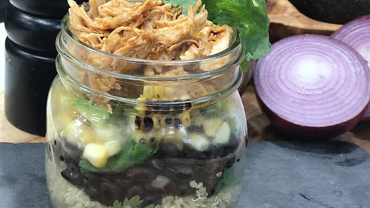 Barbecue Chicken Quinoa and Black Bean Bowl