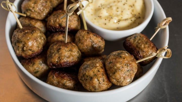 Chicken Meatballs with Zesty Dip