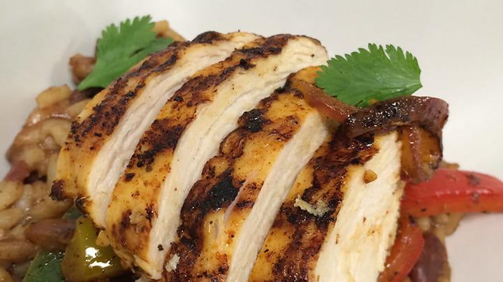 Chipotle Chicken Fajita Rice Bowl