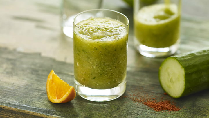 Spiced Cucumber and Apple Morning Boost