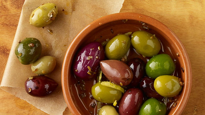 Cumin and Coriander Marinated Olives