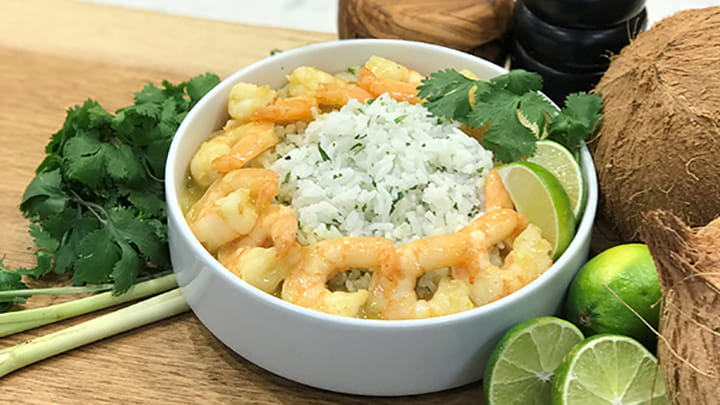 Easy Green Curry Shrimp