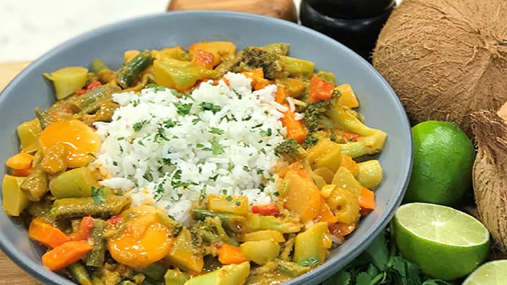 easy green curry veg