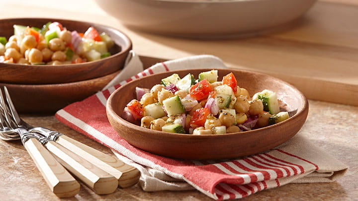 Garlic and Herb Chickpea Salad