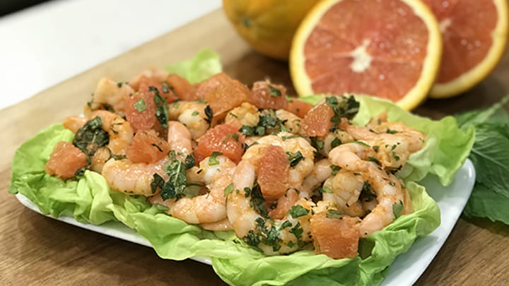 Grapefruit and Shrimp Salad