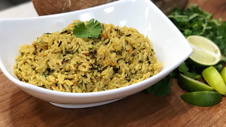 Green Curry Coconut Creole Rice