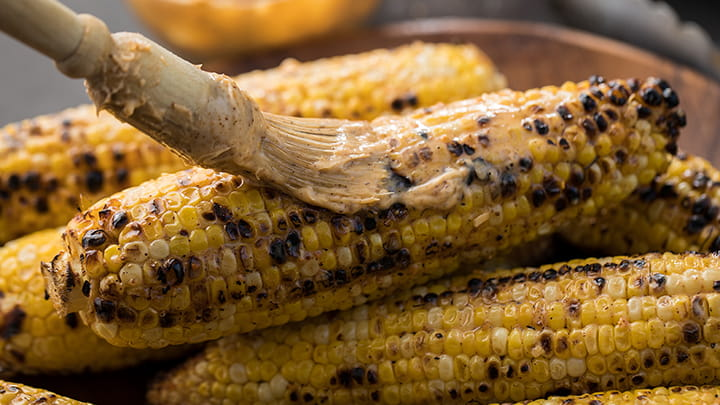 Grilled Smokehouse Maple Chipotle Buttered Corn