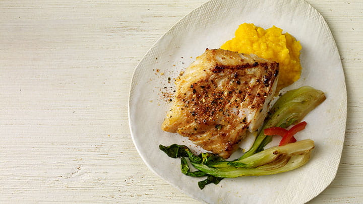 Japanese 7 Spice Cod with Miso Butternut Squash