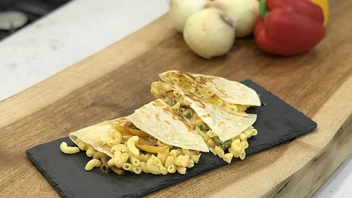 Mac and Cheese Quesadilla