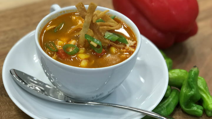 Mango Habanero Chicken Tortilla Soup