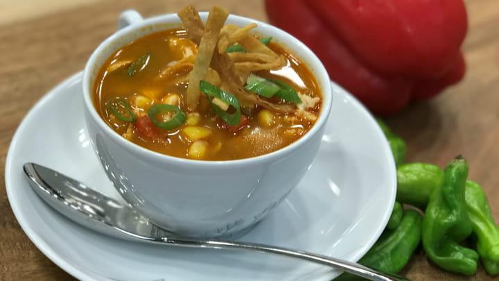 Mango Habanero Chicken Tortilla Soup