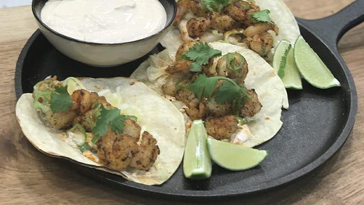Mango Habanero Shrimp Tacos