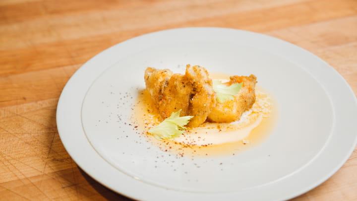 Mango Habanero Halibut Cheeks with Shrimp Aioli