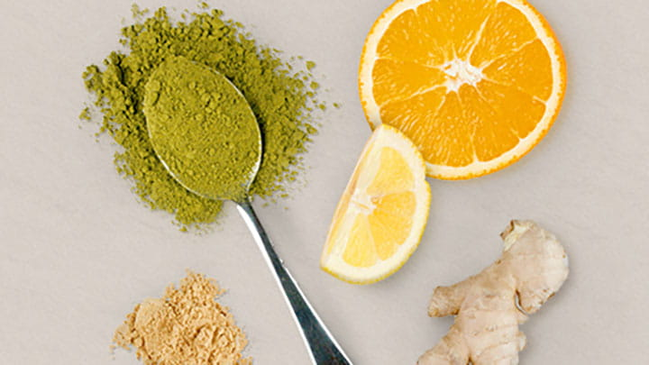 Matcha Green Tea with Ginger and Citrus Blend