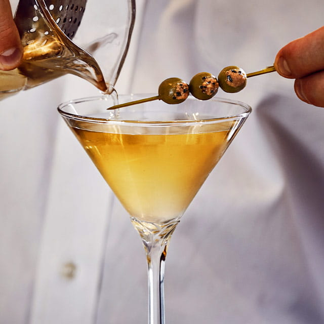 black pepper dirty martini