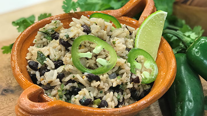 Mojito Lime Black Bean Rice