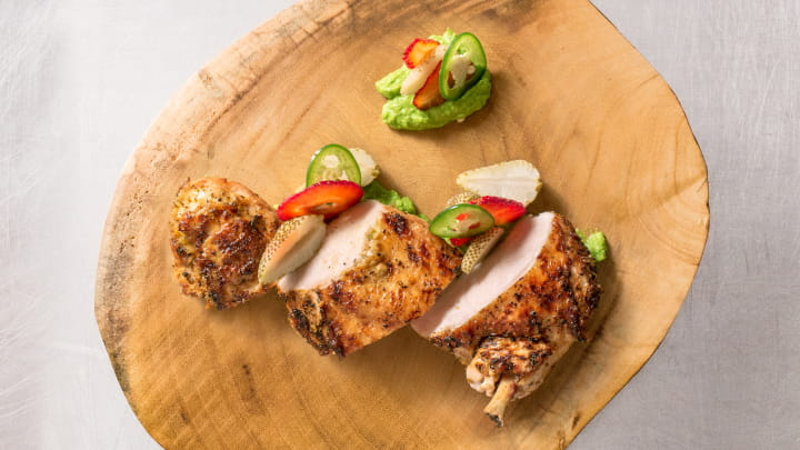 Mojito Lime Chicken with Strawberry Salad