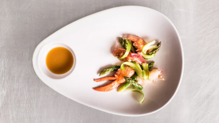 OLD BAY Spiced Lobster and Asparagus