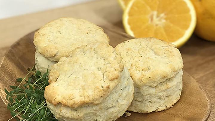 Orange Thyme Biscuits