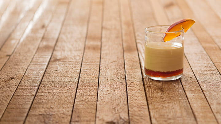 Peach and Vanilla Brulee Cocktail