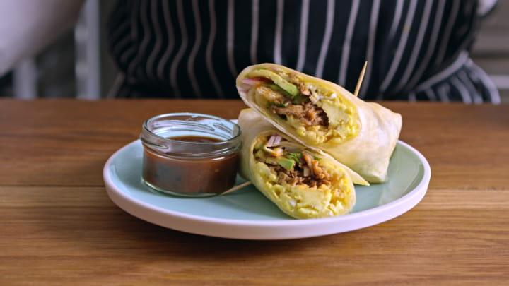 Ranchero Pork Breakfast Burritos